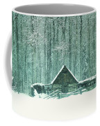 Barn In Snowfall Coffee Mug