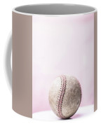 Baseball Pink Background Coffee Mug