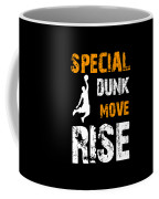 Basketball Sports Player Special Dunk Move Rise Gift Idea Coffee Mug