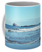 Bass Rock And Beach At North Berwick Coffee Mug