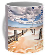Beach Perpective Coffee Mug