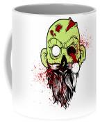 Bearded Zombie Undead With Beard Halloween Party Light Coffee Mug