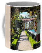 Beautiful Courtyard Getty Villa  Coffee Mug