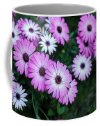 Beautiful Pink Flowers In Grass Coffee Mug