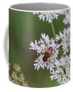 Bee Relaxing On A Flower. Coffee Mug