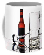 Beer Bottle And Glasses Coffee Mug