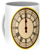 Big Ben Midnight Clock Face Coffee Mug