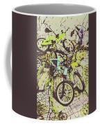 Bikes And City Routes Coffee Mug