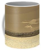 Biloxi's Pristine Beach In Sepia Tones Coffee Mug