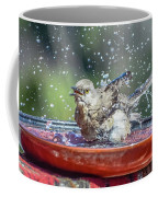 Bird In A Bath Coffee Mug
