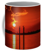 Bird On A Pole Sunrise Coffee Mug