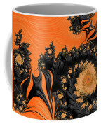Black And Orange  Swirls Coffee Mug