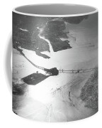 Black And White Aerial View Of Downtown San Francisco With Sun R Coffee Mug