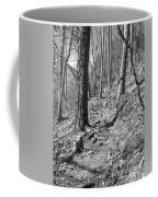 Black And White Mountain Trail Coffee Mug
