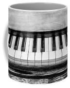 Black And White Piano Coffee Mug
