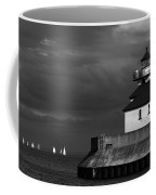 Black And White Regatta On Lake Superior Coffee Mug