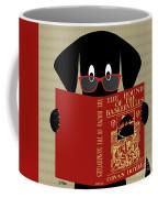 Black Dog Reading Coffee Mug by Donna Mibus