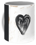 Black Heart- Art By Linda Woods Coffee Mug