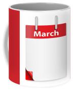 Blank March Date Coffee Mug