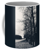 Bleak, Barren Trees Lining A Vacant Street Coffee Mug