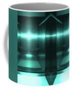 Blue Aluminum Surface. Metallic Fashion Geometric  Background Coffee Mug