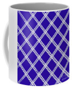 Blue Knit Coffee Mug