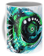 Blue Spewed Turtle Fish Coffee Mug