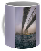 Blue Water Bridge Fog Coffee Mug