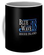 Blue Wave Rhode Island Vote Democrat 2018 Coffee Mug