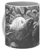 Blue Zebra Above Cave Art Sketch Coffee Mug by Don Northup