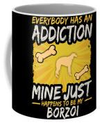 Borzoi Funny Dog Addiction Coffee Mug