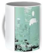 Boston Massachusetts Night Scene Digital Art Coffee Mug