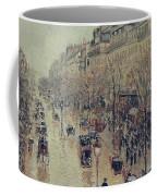 Boulevard Montmartre - Afternoon, In The Rain, 1897 Coffee Mug