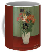 Bouquet Of Flowers With China Asters And Tokyos, 1910 Coffee Mug