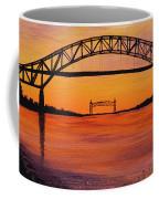 Bourne Bridge Sunset Coffee Mug
