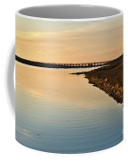 Bridge And Ria At Sunset In Quinta Do Lago Coffee Mug