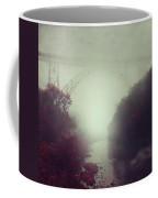 Bridge And River In Fog Coffee Mug