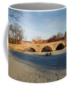 bridge over river Tyne in Haddington in winter Coffee Mug