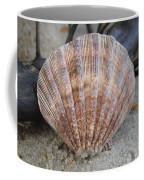 Brown Cockle Shell And Driftwood 2 Coffee Mug