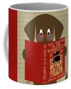 Brown Dog Reading Coffee Mug by Donna Mibus