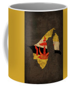 Brunei Country Flag Map Coffee Mug