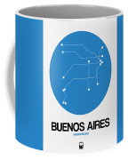 Buenos Aires Blue Subway Map Coffee Mug