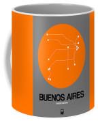 Buenos Aires Orange Subway Map Coffee Mug