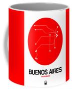 Buenos Aires Red Subway Map Coffee Mug