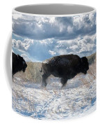Buffalo Charge.  Bison Running, Ground Shaking When They Trampled Through Arsenal Wildlife Refuge Coffee Mug