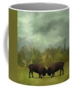 Buffalo Standoff - Painting Coffee Mug