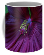 Burgundy Hibiscus Coffee Mug