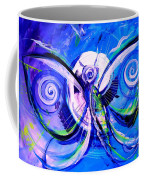 Butterfly Blue Violet Coffee Mug