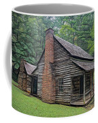 Cabin In The Woods - Fractals Coffee Mug by Ericamaxine Price