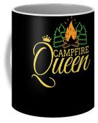 Campfire Queen Camping Caravan Camper Camp Tent Coffee Mug